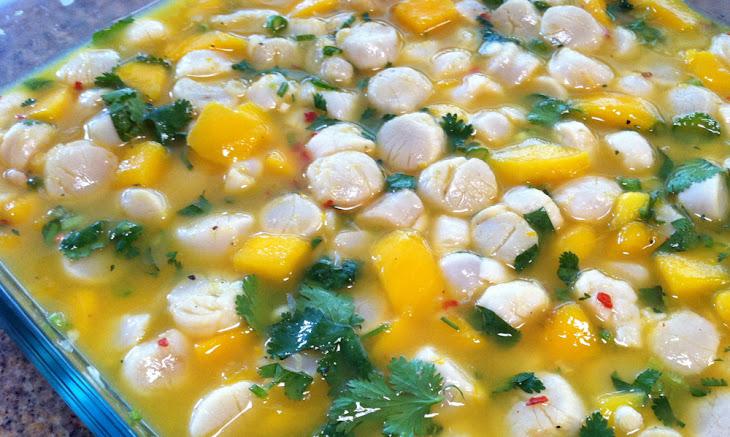 Tropical Scallop Mango Ceviche Recipe | Yummly