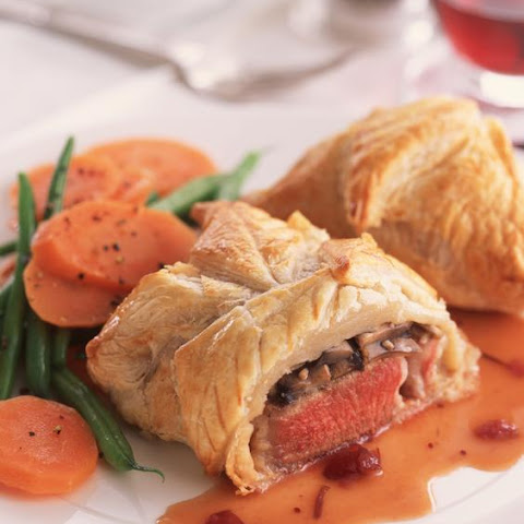 Lamb and Garlic Mushrooms in Pastry