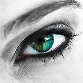 by Vicki Switala Riley - People Body Parts ( eye, green, green eyes,  )
