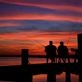 by Ann J. Sagel - People Couples ( sunset )