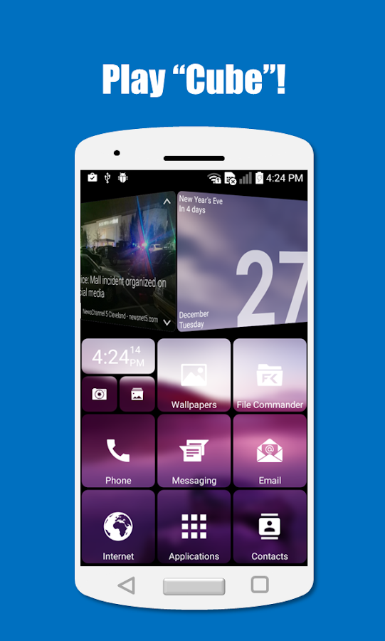 SquareHome 2 - Launcher: Windows style Screenshot 1