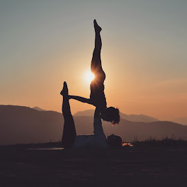 Yoga in the Foothills by Angel Rhodes - Sports & Fitness Fitness