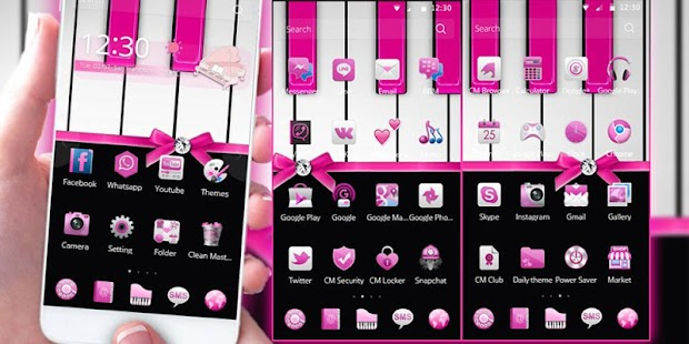 Pink Piano Theme Pink Tiles