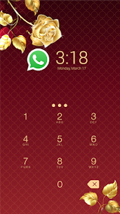 App Gold Rose CM Security Theme apk for kindle fire