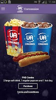 Screenshot of UA Cinemas – Mobile ticketing