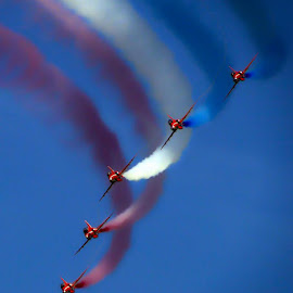 The Red Arrows by Joseph Ellwood - Transportation Airplanes (  )