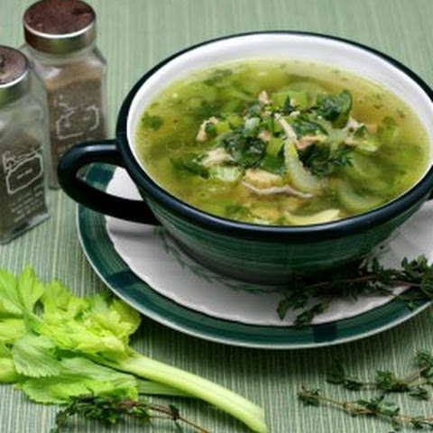 Chicken Leek Soup with Spinach