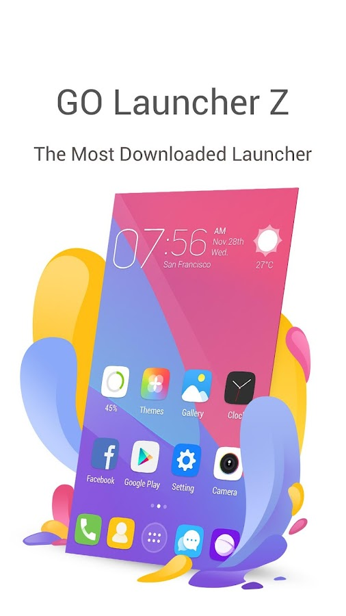 GO Launcher- Free Themes & HD Wallpapers Screenshot 4