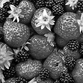 Fruits by Dobrin Anca - Black & White Objects & Still Life ( ideas, sunny, fruits, funny, brittany )