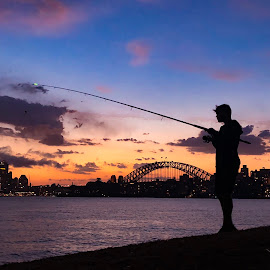 Sydney fishing  by Angela Taya - Novices Only Landscapes