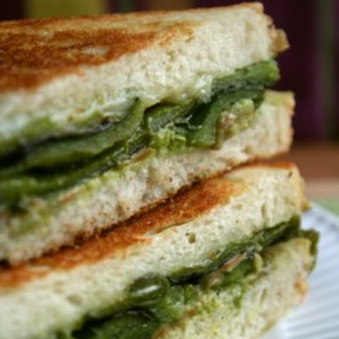 Roasted Poblano Grilled Cheese Sandwiches