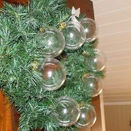 Wreath of Balls by Lenora Popa - Public Holidays Christmas ( holiday, artisitc, green, christmas, wreath )