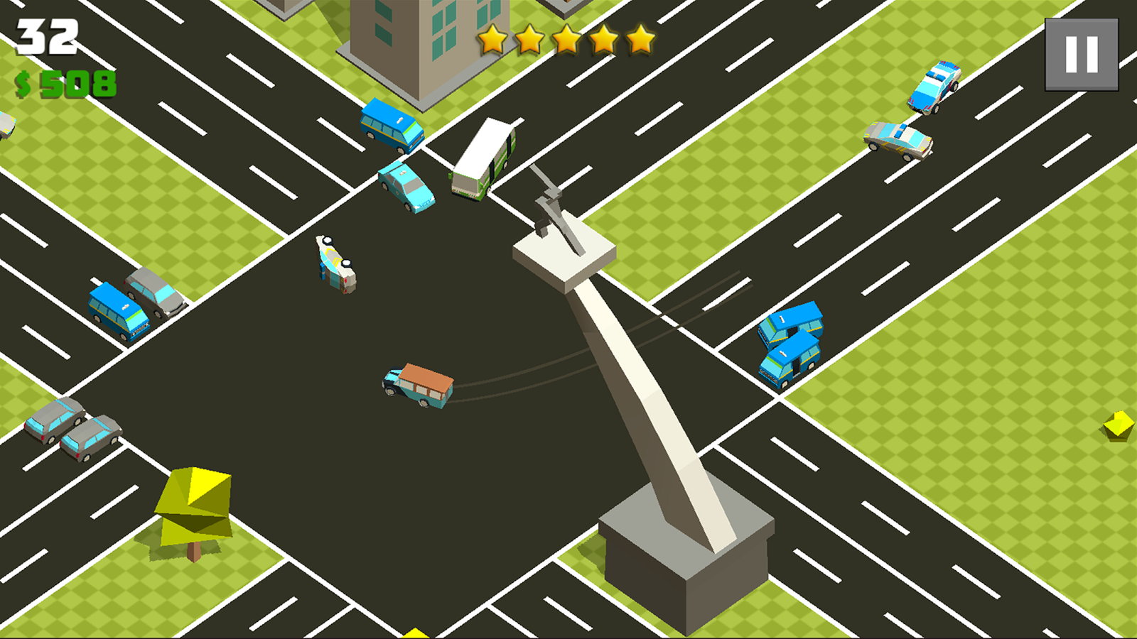 Crazy Cars Chase Screenshot 2