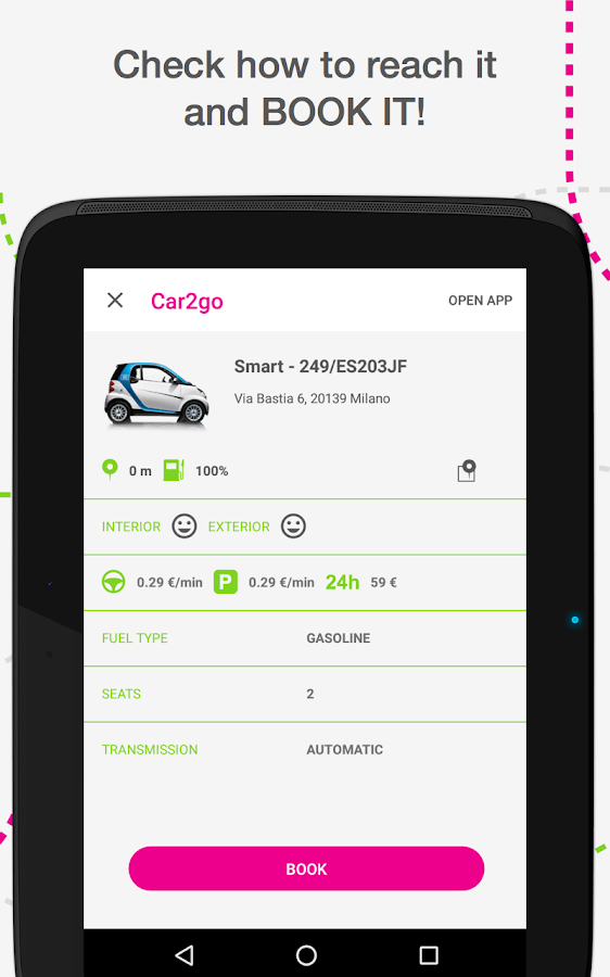 urbi - carsharing aggregator Screenshot 7