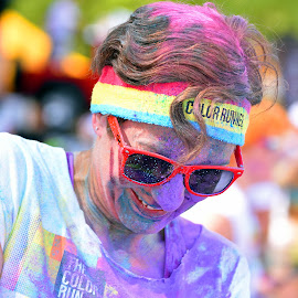 Color Run For Fun ! by Marco Bertamé - Sports & Fitness Other Sports ( purple, 2015, woman, colors, the color run, lady, runner, fun, run, luxembourg, echternach,  )