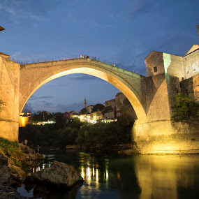 Stari Most by Berrin Aydın - Buildings & Architecture Public & Historical ( old, bosnia-herzegovina, arch, stone, mimar hayruddin,  )