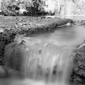 Ready to move by Mohamad Sa'at Haji Mokim - Landscapes Waterscapes ( water, white, long exposure, pwcbwlandscapes, landscapes, black, river )