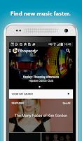 Screenshot of Rhapsody Music Player