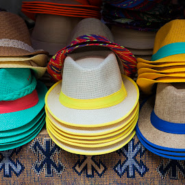 Colorful hats by Carla Coanda - Artistic Objects Clothing & Accessories ( hats, fashion, stilllife, colorful, still life, colors, still, artistic objects, multicolored, hat,  )