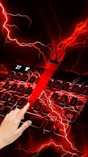 Red Lightning Keyboard Theme
