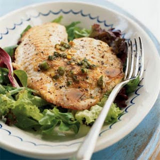 Saute?ed Tilapia with Honey-Scallion Dressing