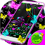 Download Android App Neon Butterflies Keyboard for Samsung