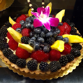Summer Fruit and Berry Tart by Lope Piamonte Jr - Food & Drink Candy & Dessert