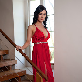Elegant by Chris O'Brien - People Fashion ( body, style, elegant, woman, beauty, red dress )