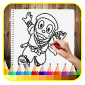 Download Learn to draw cartoons hatori APK on PC