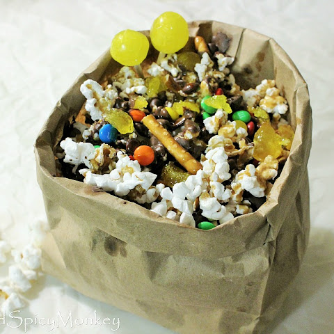 Caramel Chocolate Buttered Popcorn