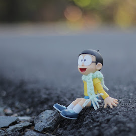 Nobita on vacation by Nadia Saleh - Artistic Objects Toys ( #nobita #toyphotography #shfiguart )