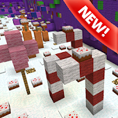 Candy Land Parkour MCPE map APK for Bluestacks