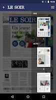Screenshot of Le Soir