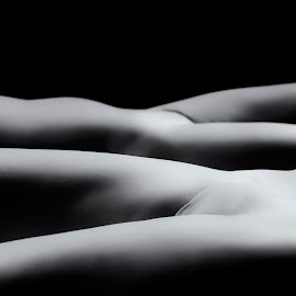 Body Scape Ladies by Kens Yeaglin - Nudes & Boudoir Boudoir ( studio, body scape, christy, black and white, boudoir, tia )