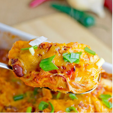Cheesy Cheesy Chili Dog Casserole