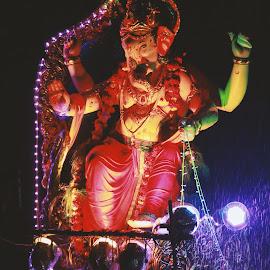 Ganesh Visarjan by Pranil Chintewar - Artistic Objects Antiques ( cultural heritage, ganesh, culture, ganesha )
