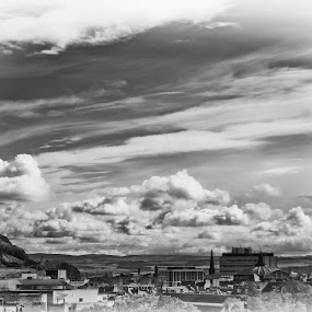 Edinburgh by Stephanie Moore - Landscapes Travel ( clouds, scotland, edinburgh, sky, scene, pwcbwlandscapes, view, landscape )