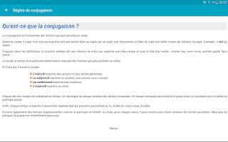Screenshot of Le Conjugueur Conjugaison