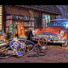 One Man's Junk...... by AJ Schroetlin - Transportation Automobiles ( car, light painting, color, automobile, auto, aj schroetlin, light )