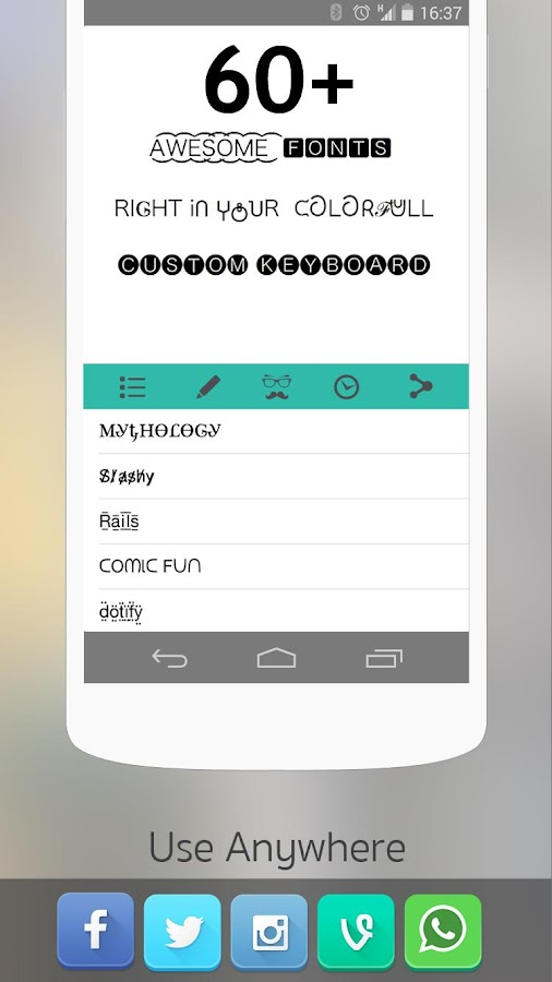 Cool Fonts for Whatsapp Pro Screenshot 1