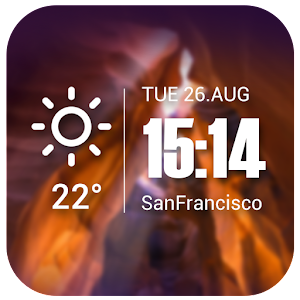 Live Weather&Clock Widget