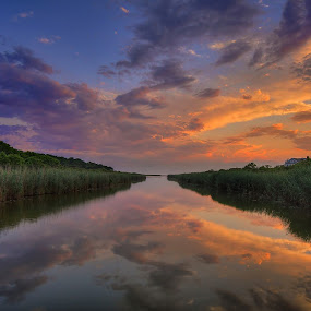 Long Pond Sunset, Nantucket MA by Robert Burger - Landscapes Sunsets & Sunrises