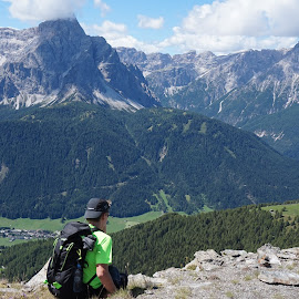 Enjoying the beauty of Dolomites. by Matic Šulc - Landscapes Mountains & Hills