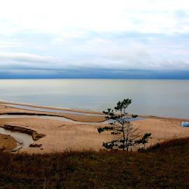 Lonely Beach by Mārīte Ramša - Landscapes Beaches