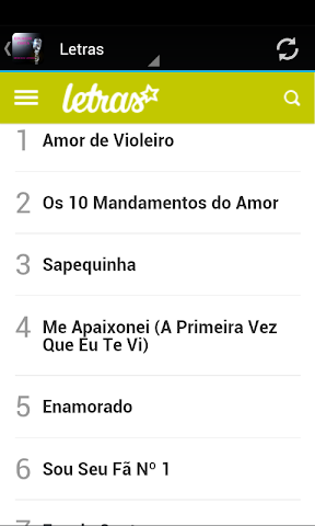 android Eduardo Costa Musica & Letras Screenshot 1