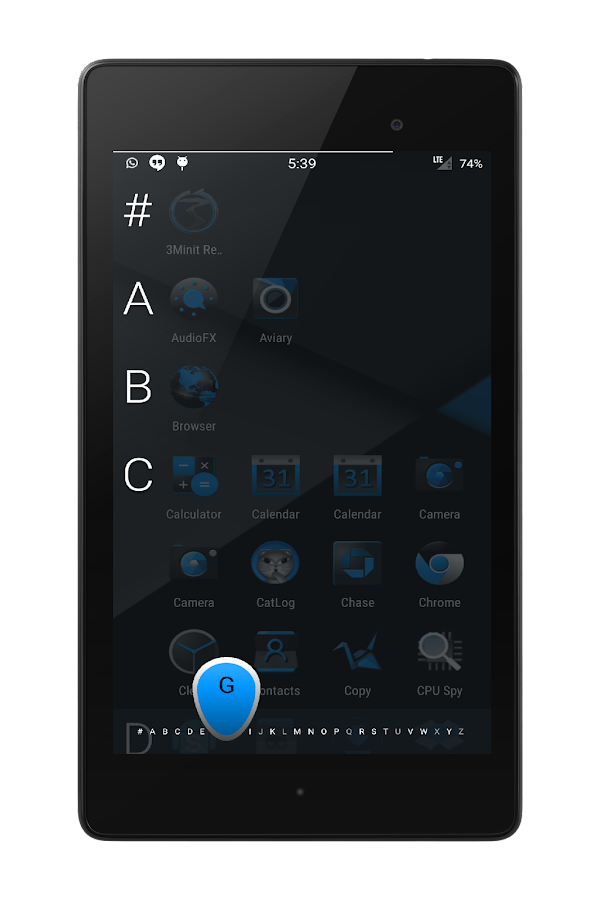 Blak Azurro  CM12-13 Theme Screenshot 14