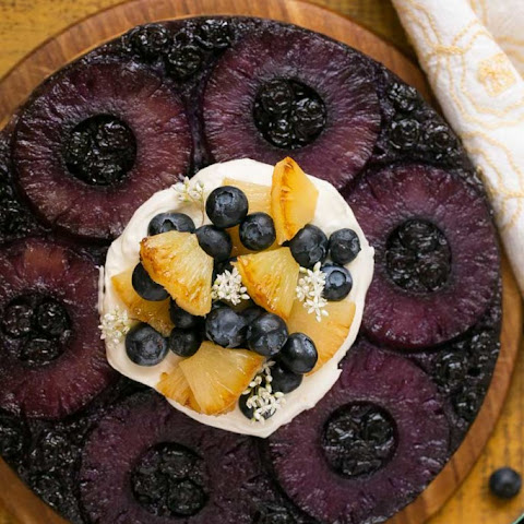 Blueberry Pineapple Upside Down Cake