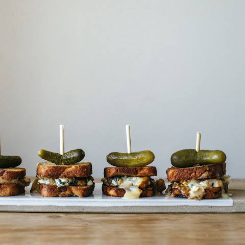 Grilled Blue Cheese With Honey And Walnut Pesto