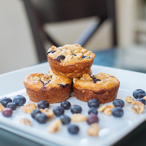 Blueberry Oatmeal Blender Muffins