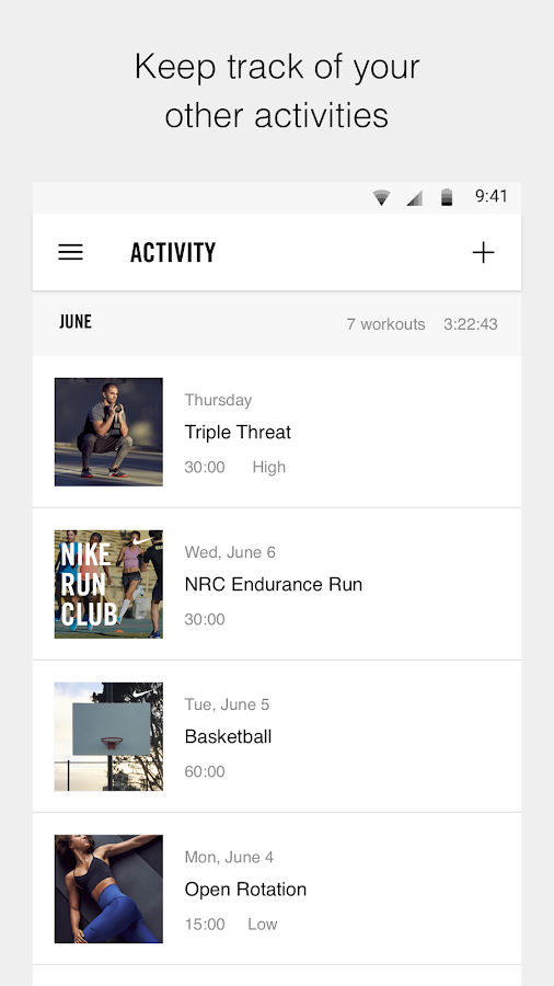 Nike Training Club Workouts Fitness Plans Screenshot
